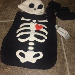 Carters baby skeleton costume